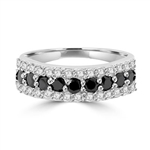 Ring – 9 onyx diamond round stone white DE stones