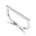 Diamond Essence Ring With Round Brilliant Melee, 0.40 Ct.T.W. In Platinum Plated Sterling Silver.