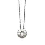 Stainless Steel Polished Flower Necklace