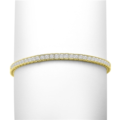 Princesscut diamond in goldvermeil tennis bracelet