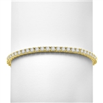6.88ct Classic tennis bracelet in Gold Vermeil