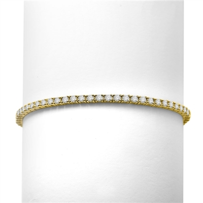 3.10ct Classic tennis bracelet in Gold Vermeil