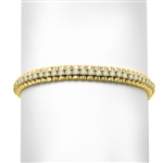 Fantastic Diamond Essence bracelet In 14K Gold Vermeil. This best selling bracelet boasts of heavy gold setting with approximate 3.5 Cts. T.W of Diamond Essence Masterpieces.