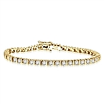 Bar design & 50 Diamond bracelet in Gold Vermeil