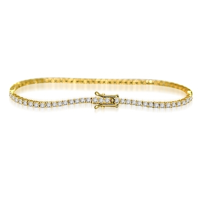 2.4ct 7-tennis bracelet in 14K Gold Vermeil