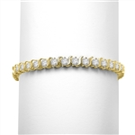 7.5ct S -curve tennis bracelet in 14K Gold  Vermeil
