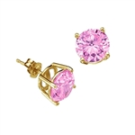 Pink Diamond Essence gems, 2.0 cts. t.w., in Gold  Vermeil.