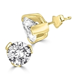 2ct round-cut stone earring in 14K Gold Vermeil
