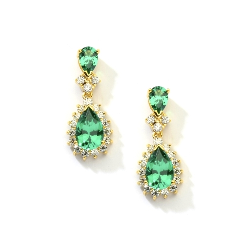 7ct emerald essence earrings in vermeil