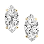 0.5 ct Marquise Studs earrings in gold vermeil