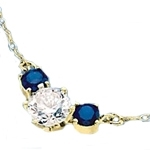 Diamond Essence and sapphire Essence together make a special gift. 1.75 cts.t.w. 14K Gold Vermeil.
