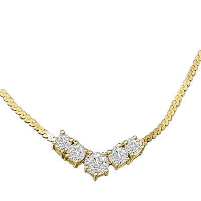 1.5 ct.Celebration Necklace in Gold Vermeil