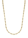 Bambooty - Exquisite Bamboo Necklace with Round Diamond Essence Masterpieces in a unique prong and link setting forming 9.25 cts. T.W. set in 14K Gold Vermeil.