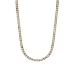 16 Inch Bar Necklace where each gorgeous round brilliant masterpiece is separated with distinction - creating oomph of 12.75 Cts. T.W.