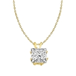 Diamond Essence princess-cut 2.0 ct. stone set in 14K Gold Vermeil.
