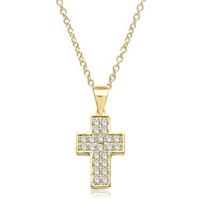Santa Cruz-Cross pendant in Gold Vermeil