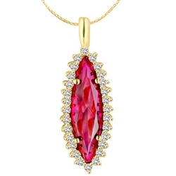 4ct ruby stone pendant in 14k Gold Vermeil
