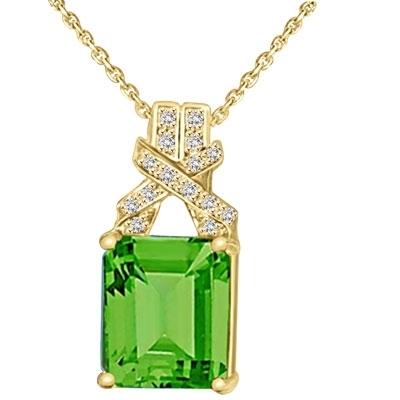 e1d5fb3265e4f Diamond Essence Pendant with Emerald cut Emerald Stone and Brilliant Melee,  7.25 cts.t.w. - VPD4568