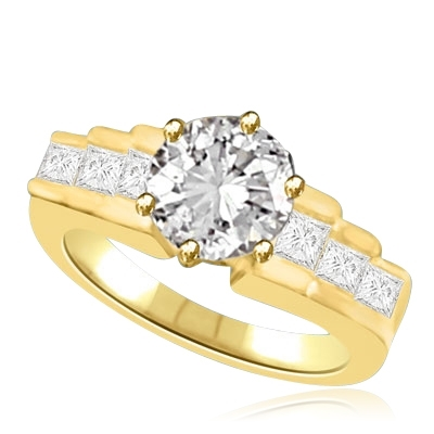 Diamond Essence Ring with Round Brilliant Stones, 2.70 cts.t.w. - VRD3376