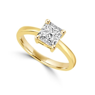 Ring – 1 ct princess cut diamond essence stone