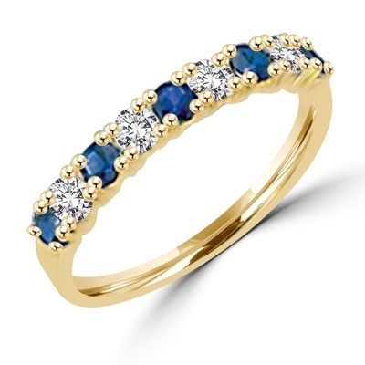 ring with 1.2 cts.t.w. Blue sapphire stones