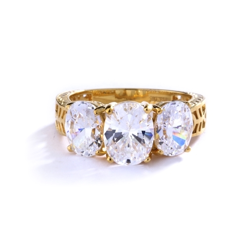 oval cut diamond Bright Lights Ring Gold Vermeil