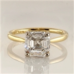 14k gold vermeil ring with asscher cut  stone