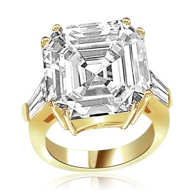Expensive mini aristocrat of diamond cuts ring in Gold Vermeil