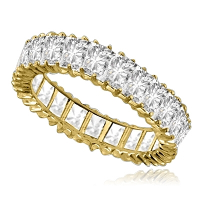 Emerald-Cut Eternity Band gold vermeil ring