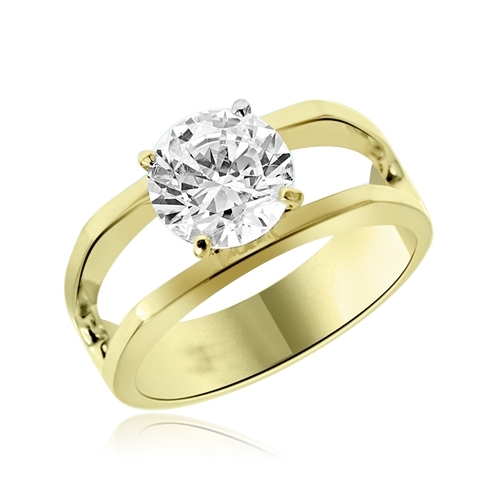 1.5 cts solitaire with a difference in vermeil