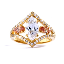 Diamond Essence Marquise Designer ring