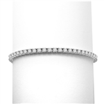6.88ct Classic tennis bracelet in white Gold