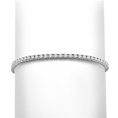 3.10ct Classic tennis bracelet in white gold