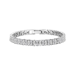 Diamond Essence Designer Bracelet With Marquise And Round Stones, 14 Cts.T.W. In 14K White Gold.