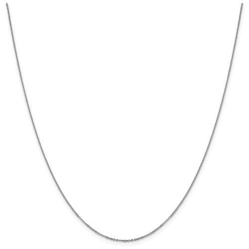 14k solid white gold 1.10 mm Flat Cable Chain