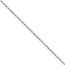 14k WG 1.20mm Machine-made Rope Chain