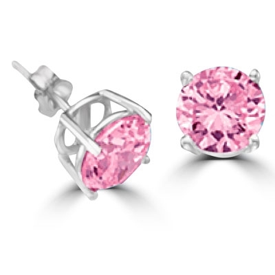 Pink Diamond Essence gems, 2.0 cts. t.w., in 14K Solid White Gold.
