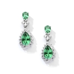 7ct emerald essence earrings in white gold