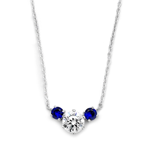 Diamond Essence and sapphire Essence together make a special gift. 1.75 cts.t.w. 14K White Gold.