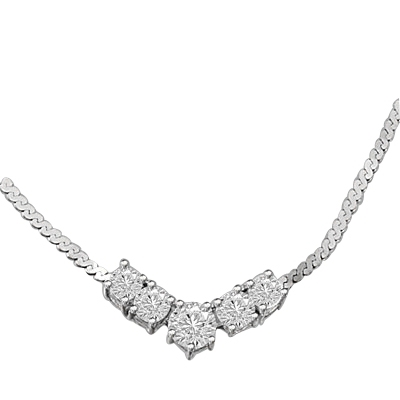 1.5 ct.Celebration Necklace in Solid white Gold