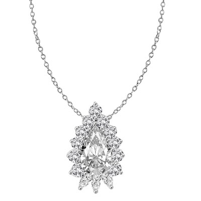 collections jewellery pendant garden diamond shaped necklaces claw london pear our hatton dc s