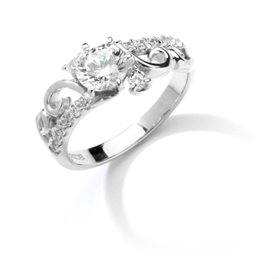Diamond Essence Ring with Round Brilliant Stones, 2.75 cts.t.w. - WRD1134