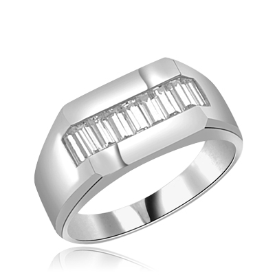 1.5ct Intense - Wield with man's ring in white gold