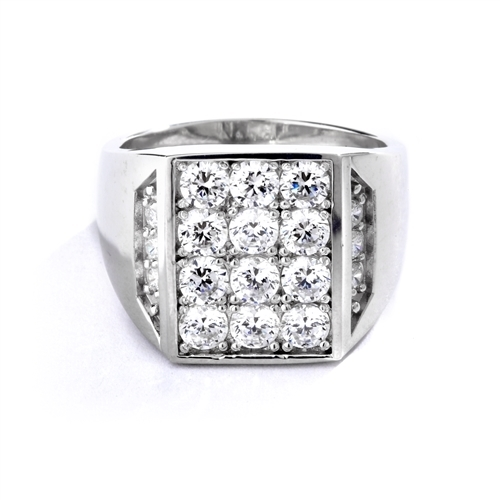 Simply Amazing ring for your perfect man. 3.5 Cts. T.W. set in 14K Solid White Gold.