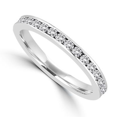 White Gold classic eternity band  from Diamond Essence