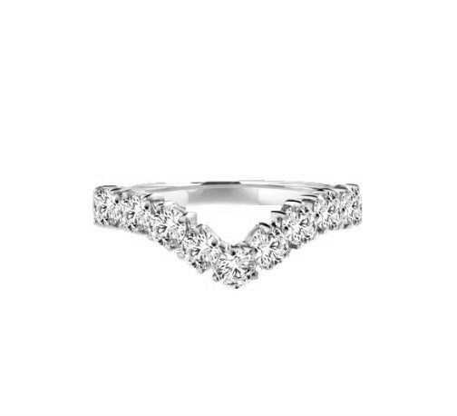 Stacking Rings-V-shaped rings in white gold