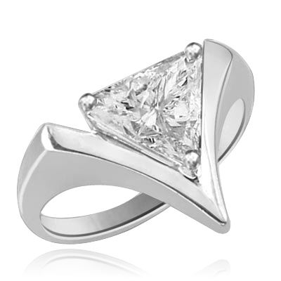2.0 Dia. Carats Trilliant Cut Diamond in White gold