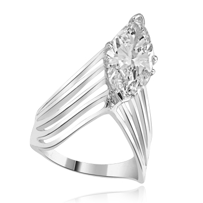 Ring - 3.5 ct marquise diamond set in 6 prongs