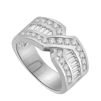 Tenderly- 14K Solid White Gold  ìXî ring 2.5 cts.t.w