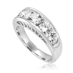 Diamond Essence Five Stones Ring, With Round Brilliant Stones In Graduating Size, 1.80 Cts.T.W. In 14K White Gold.